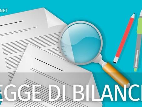 Legge di Bilancio 2021: Le principali novità