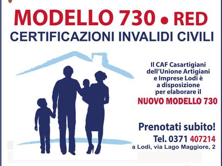 Modello 730/2021: il nostro Caf al tuo servizio