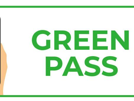 GREEN PASS: le nuove disposizioni