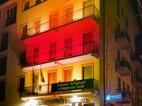 Unione Artigiani, la sede con i colori di Lodi. L'Associazione festeggia San Bassiano