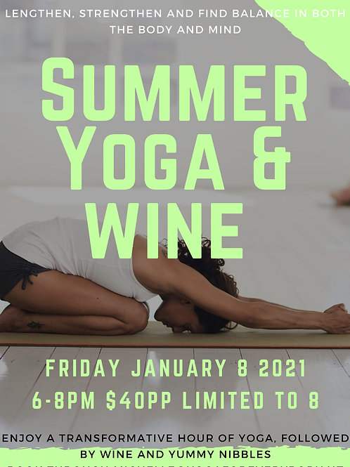Yoga and Wine - Gift Voucher