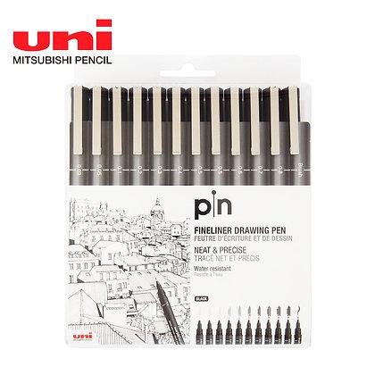 Uni Pin Water-based Marker 12PCS Set PIN200-12P