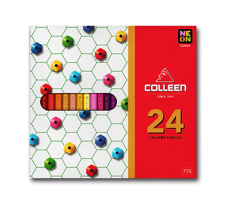 Colleen 775 Coloured Pencil Hexagon 24 Colours COL 775-24  (Neon Included)