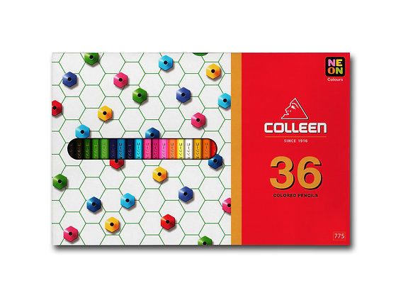 Colleen 775 Coloured Pencil Hexagon 36 Colours COL 775-36  (Neon Included)