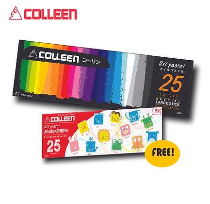 COLLEEN Jumbo Oil Pastel FREE Regular Oil Pastel Round 25 colors J22259