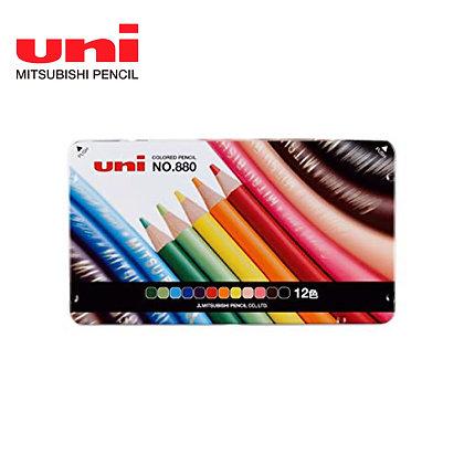 Uni Color Pencil 880 12 Colors Set COL880-12C