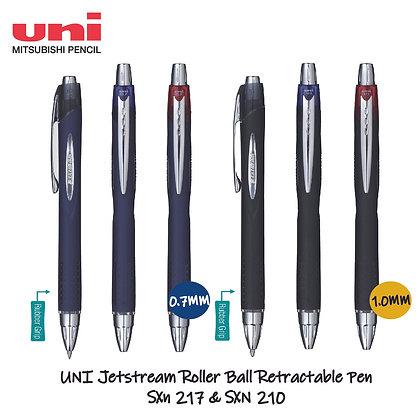 Uni Jetstream 210 Roller Ball Retractable Pen 1.0mm 0.7mm SXN 210 / SXN 217