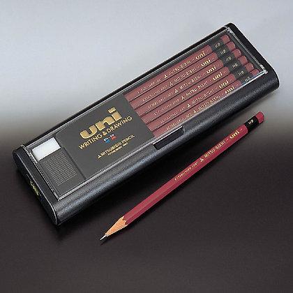 Uni Mitsubishi Pencil 12 pcs 2B 4B 6B HB