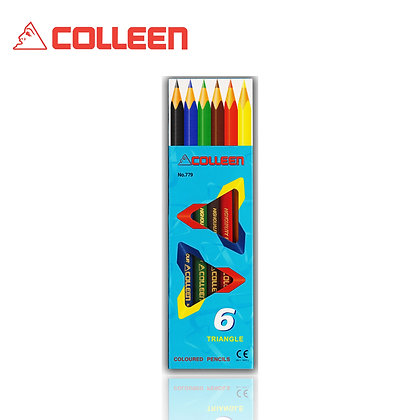 Colleen 779 Color Pencil Triangle 6 Colors BUY 1 FREE 1 COL779-6