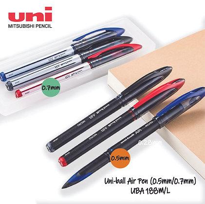 Uni-Ball Air Roller Ball Pen 0.5mm 0.7mm UBA 188M / L