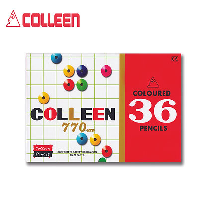 COLLEEN Color Pencil 770-36 Single End Tip Round (36PCS) COL770-36