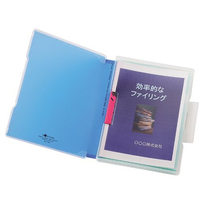 Lihit Lab Aqua Drops File Case (A4) A-5029