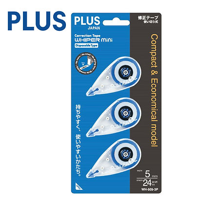 PLUS Renewed Whiper Mini Correction Tape 3 In 1 WH505N/3P