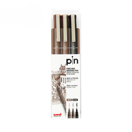 Uni Pin Water-based Marker 3PCS Set PIN-200