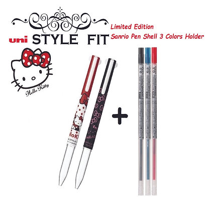 Uni Style Fit Sanrio Pen Shell 3 Colors + 3 Refills UE3H-258SR