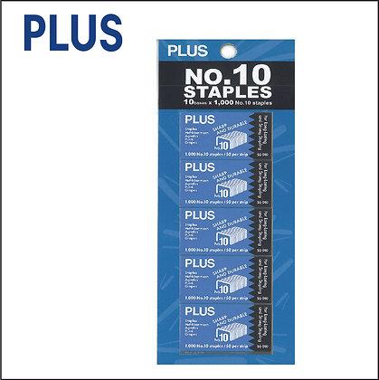 PLUS NO.10 Staples 10pcs Set SS010/10