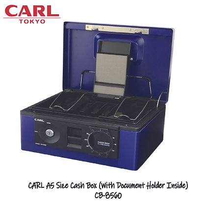 CARL Cash Box (A5 Size)  Key Lock Password Dial CB 8560