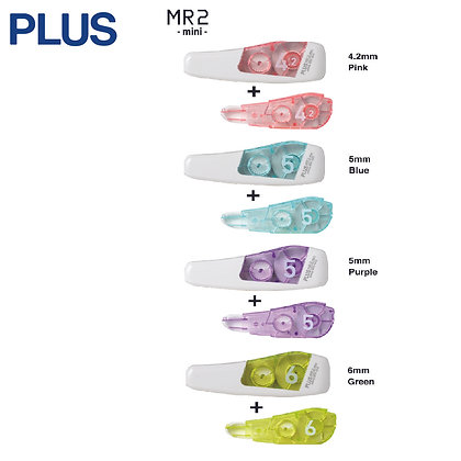 PLUS Whiper MR2 Mini Correction Tape W/Refill WH664-11 WH665-11 WH666-11