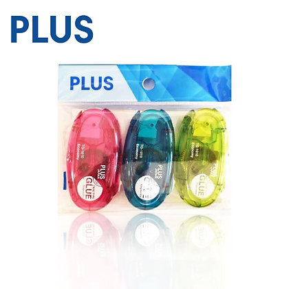 PLUS Glue Tape TG 1010 Blue Pink Green 3 colors 3pcs/pack TG1010/3P