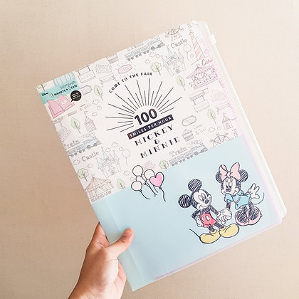 Sun-star Disney Clear File 6 pocket + fastener pocket A4 Mickey& Minnie