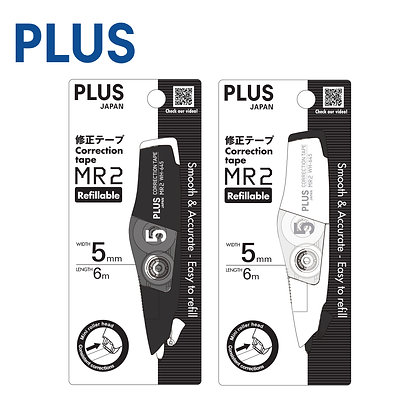 PLUS Whiper MR2 Correction Tape Black & White Series WH645-MB MW