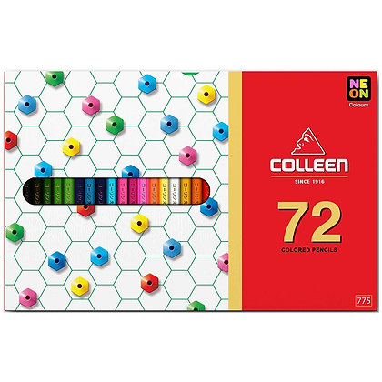 Colleen 775 Coloured Pencil Hexagon 72 Colours COL 775-72 (Neon Included)