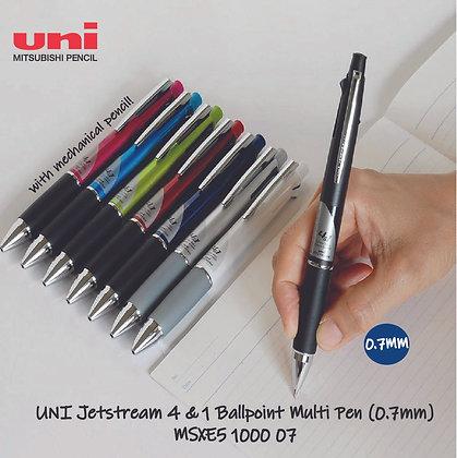 Uni Jetstream 4&1 0.7mm Multi Pen W/Mechanical pencil MSXE51000 07