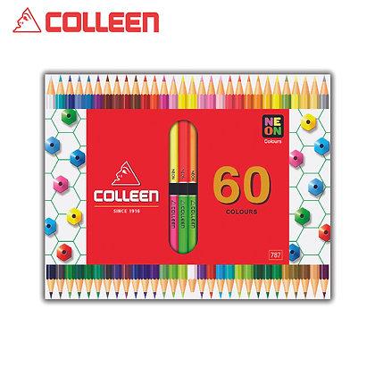 Colleen 787 Color Pencil Double End Tip (Hexagon) 30PCS /60 Colors COL787-3060
