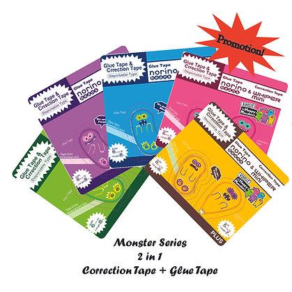 PLUS Whiper Mini Correction tape W Norino Beans Glue Tape TG810SP