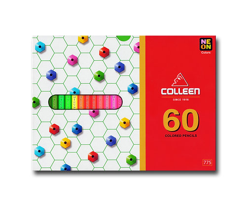 Colleen 775 Coloured Pencil Hexagon 60 Colours COL 775-60 (Neon Included)