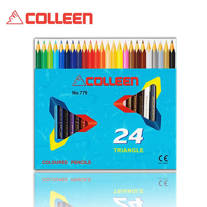 Colleen 779 Color Pencil Triangle 24 Colors BUY 1 FREE 1 COL779-24