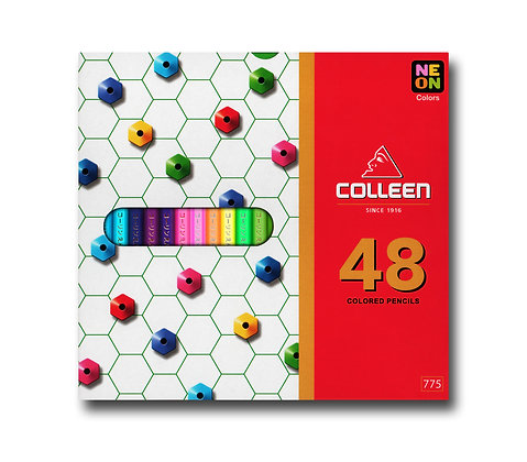 Colleen 775 Coloured Pencil Hexagon 48 Colours COL 775-48  (Neon Included)