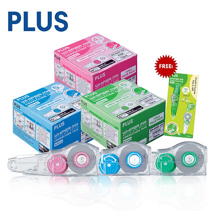 PLUS MR Correction Tape 10P Refill FOC MR 1+1 Correction Tape WH624R10P WH625R10