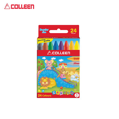 Colleen Regular Wax Crayon (24 Colors) CCY-24
