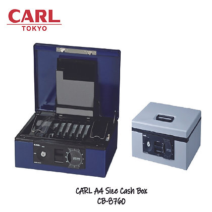 CARL Cash Box (A4 Size) Key lock W/ Password Dial  CB-8760