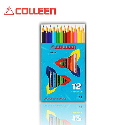 Colleen 779 Color Pencil Triangle 12 Colors BUY 1 FREE 1 COL779-12