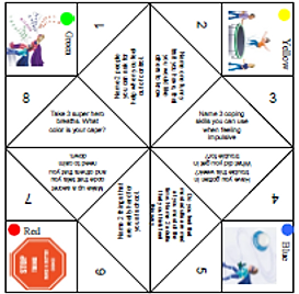 Worksheets Impulse Control Worksheets For Kids free counseling activities adhd fortune teller