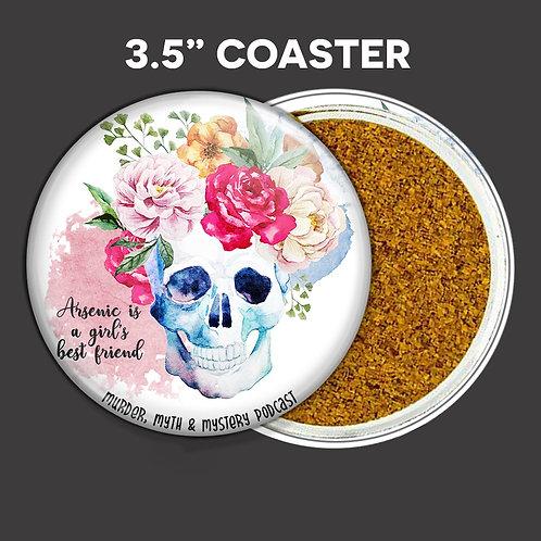 Flower Skull Coaster