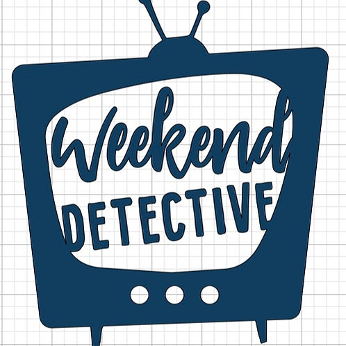 Weekend Detective Clear Makeup Bag