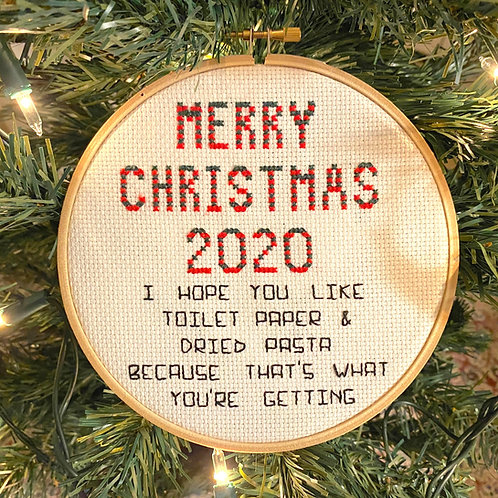 Merry Christmas 2020 Cross Stitch Kit