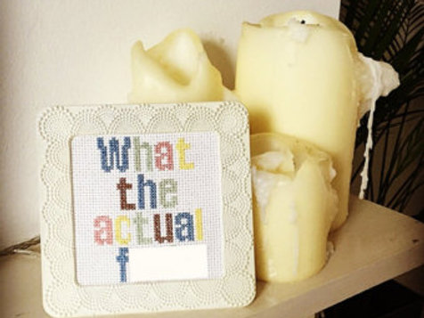 What The Actual F*** Cross Stitch Pattern