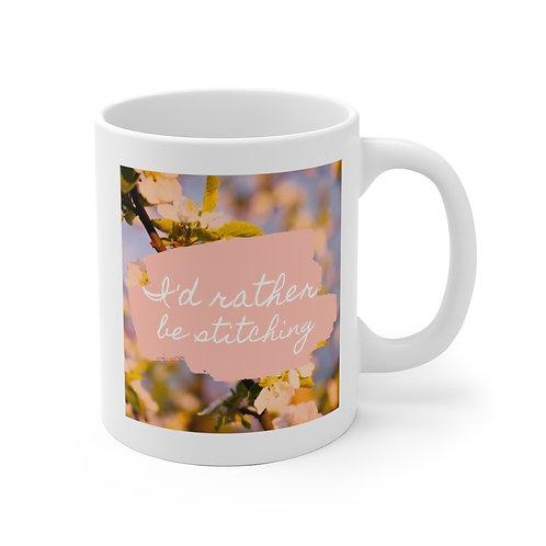 I'd Rather Be Stitching Ceramic Mug (EU)