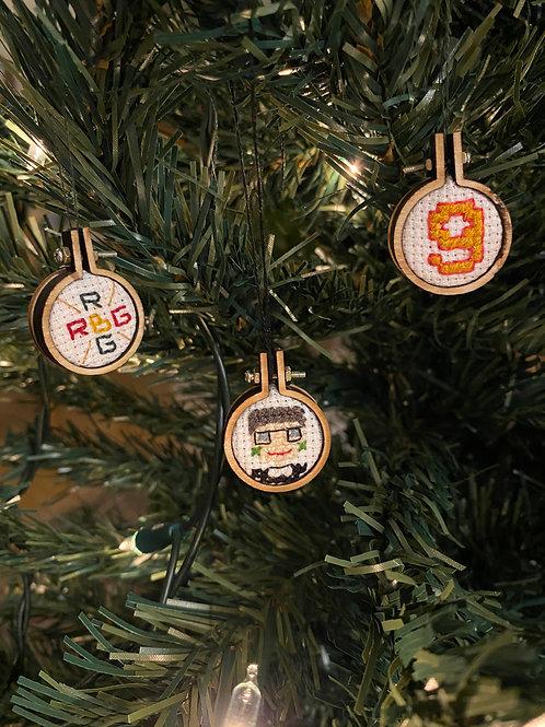 Ruth Bader Ginsburg Christmas Decorations Cross Stitch Kit