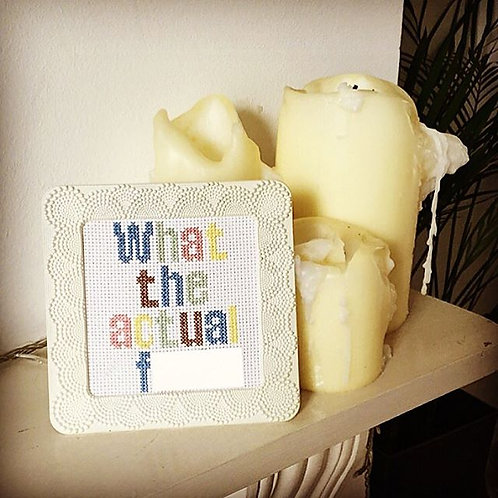 What The Actual F*** Cross Stitch Kit