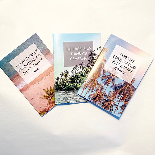 3 Pack of Crafting Notebooks