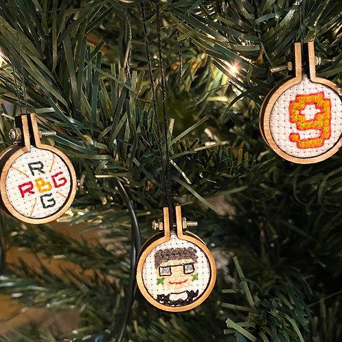 Ruth Bader Ginsburg Christmas Decoration Cross Stitch Pattern