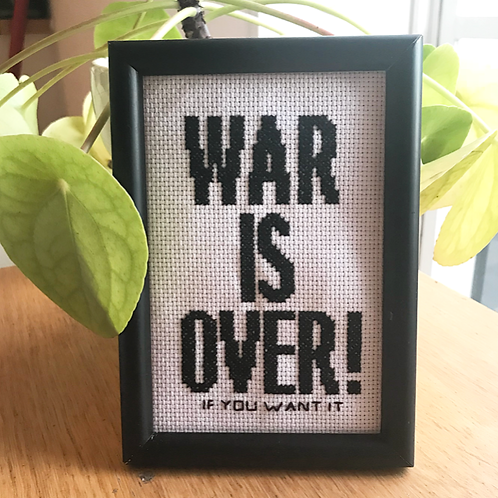 """War is Over If you Want It"" Cross Stitch Kit"