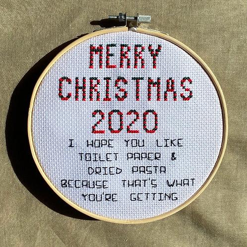 Merry Christmas 2020 Cross Stitch Pattern