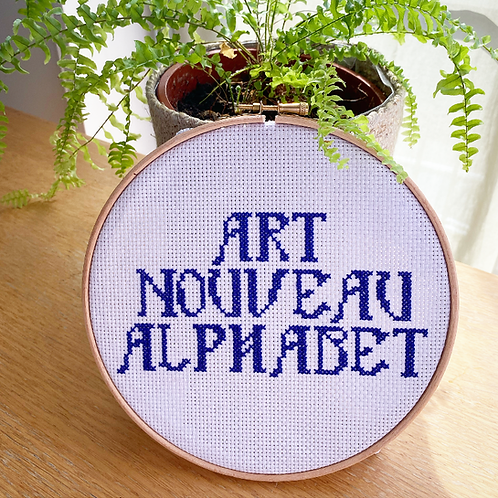 Art Nouveau Alphabet Cross Stitch Kit