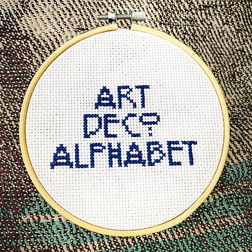 Art Deco Alphabet Cross Stitch Pattern